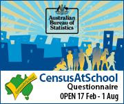 CensusAtSchool Ad: Open 17 Feb - 1 Aug