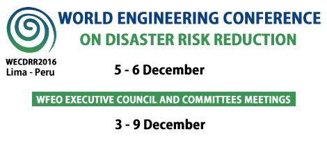 World Engineering Conference on Disaster Risk Reduction – WECDRR 2016