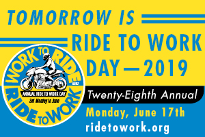 Ride To Work Day Is Tomorrow