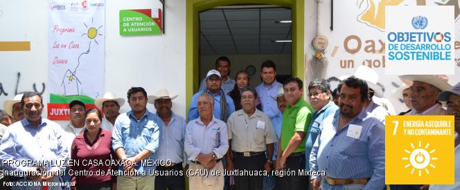 Foto de la inauguración del CAU de Juxtlahuaca