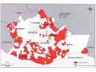 Mapa de municipios atendidos y CAUs habilitados