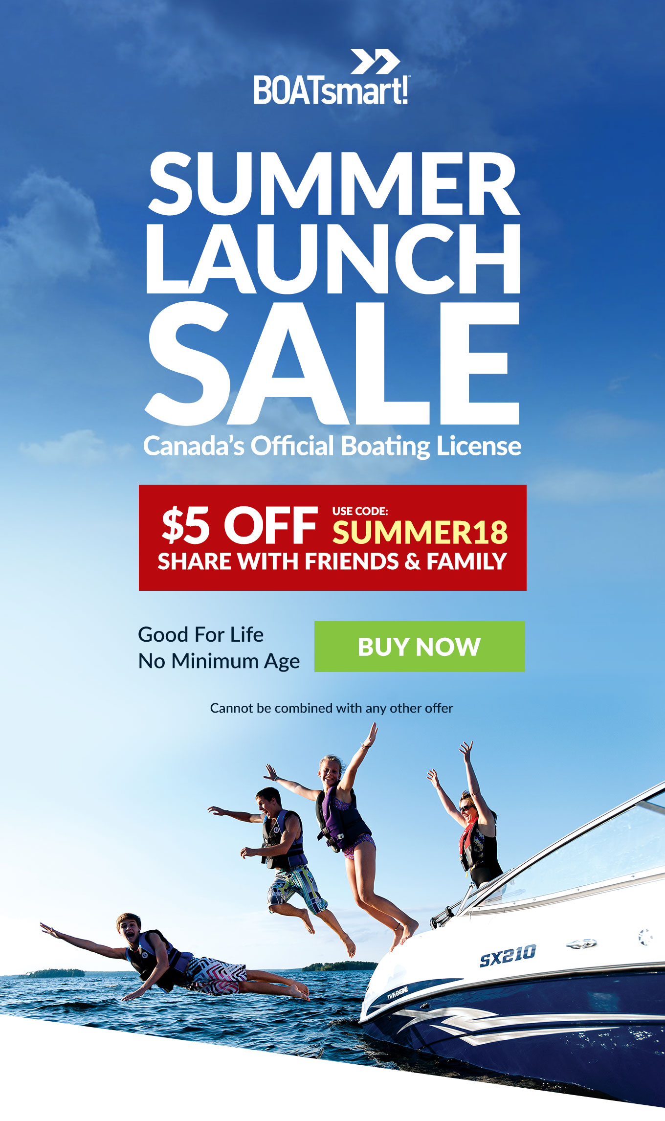 Calling All Captains, Coast to Coast. Summer Launch Sale, Save $5 on your Official Canadian Boat License
