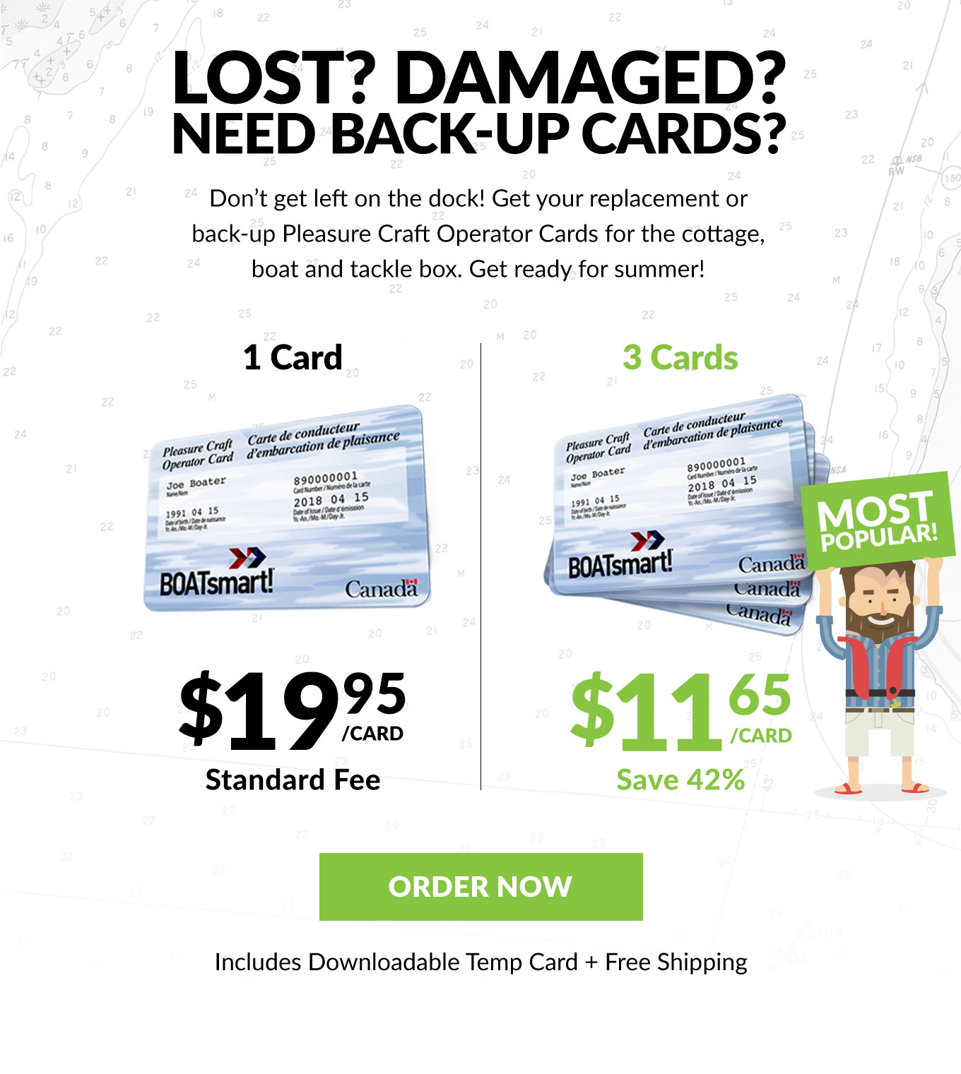 Lost? Damaged? Need Back-Up Cards, Save 42% Today!