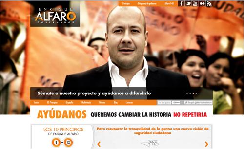 Sitio Web Oficial Enrique Alfaro