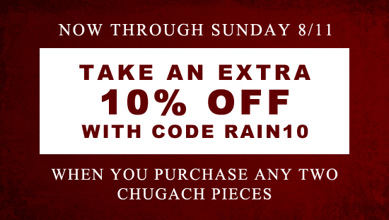 Use code RAIN10 and get and additional 10% off!