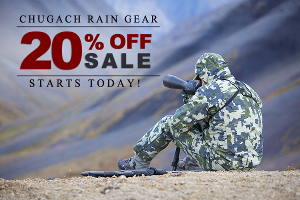 Chugach Rain Gear is now 20% Off