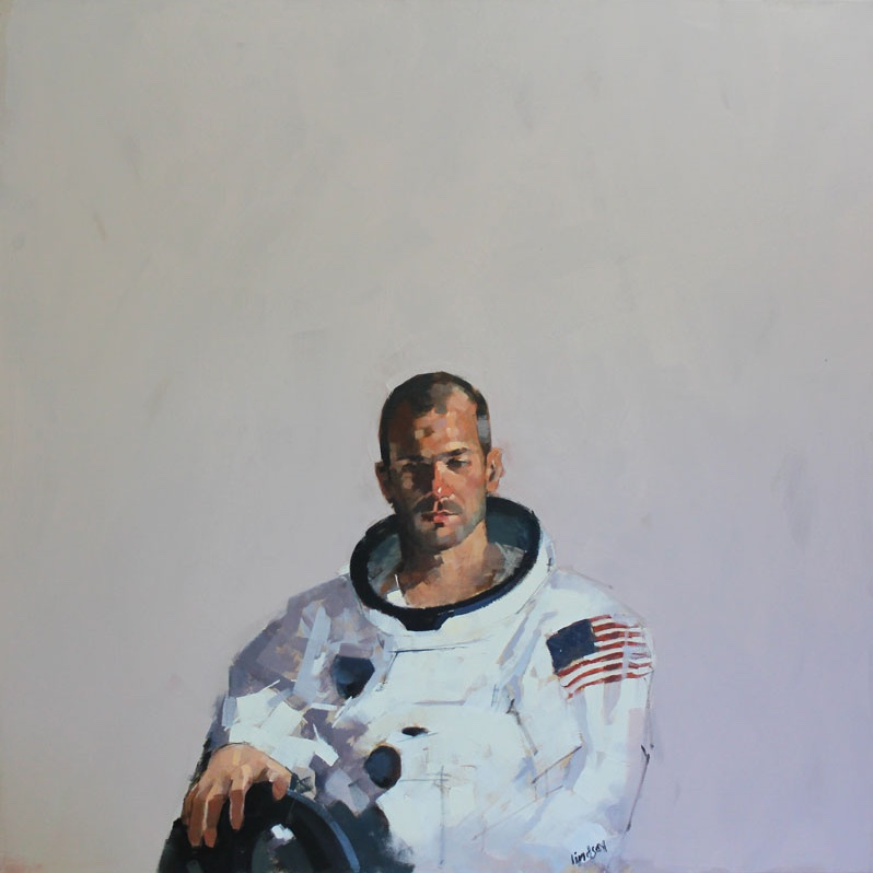 Steven Lindsay, 'Astronaut 2', Oil on canvas, 100 x 100cm, £5,495, Lime Tree Gallery.