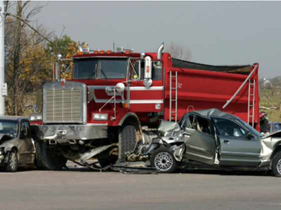 commercial truck in car accident