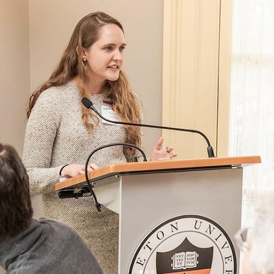 Emma Coley '20, recipient of the A. James Fisher, Jr. Memorial Award.