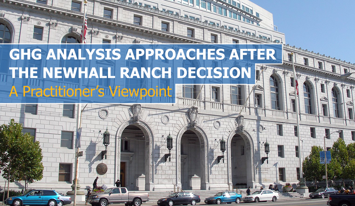 GHG Analysis Approaches after the Newhall Ranch Decision