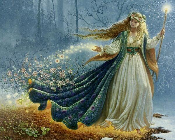 Yule Spring Fairy. Magical artist Ruth Sanderson!