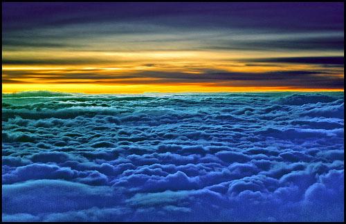 Aquarius, Air Sign, Sunrise Above the Clouds