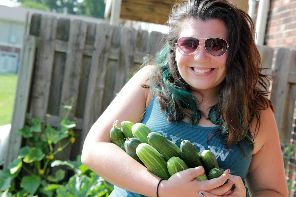 MY Cucumbers! Cucumbers and Cassie, Indiana Veggie Gardener!