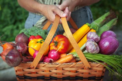 Summer Veggies Basket