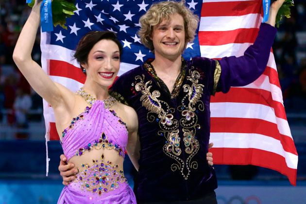 Scorpio Charlie White Ice Dancer with partner Meryl Davis Olympic Gold US