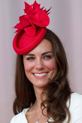 Classy Capricorn Kate Middleton in perfect Christmas hat!