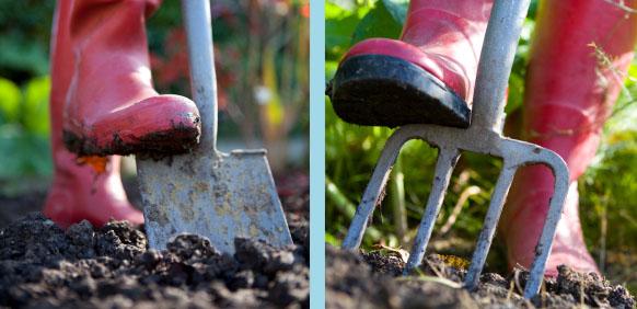 Soil Shovel Spade Fork Boots