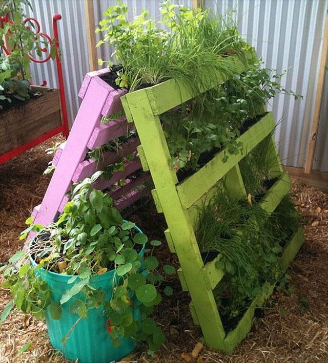 Pallet Garden A-Frame movable space saver!