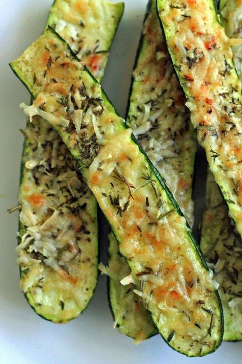 Zucchini Slices and Cheese Topping!