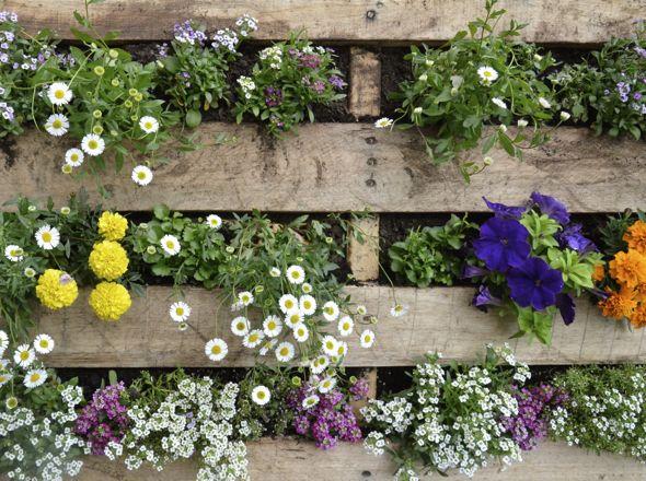 Pallet Flower Garden!