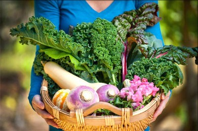Fall Winter Harvest Basket Sweet Peas & Veggies