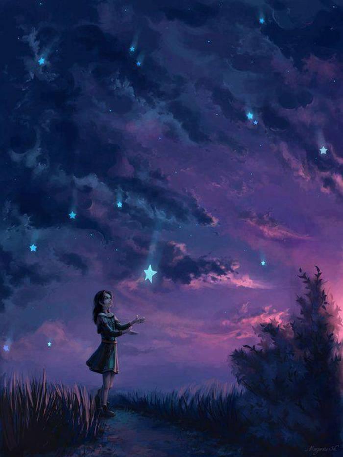 Aquarius Star Girl Woman Sky