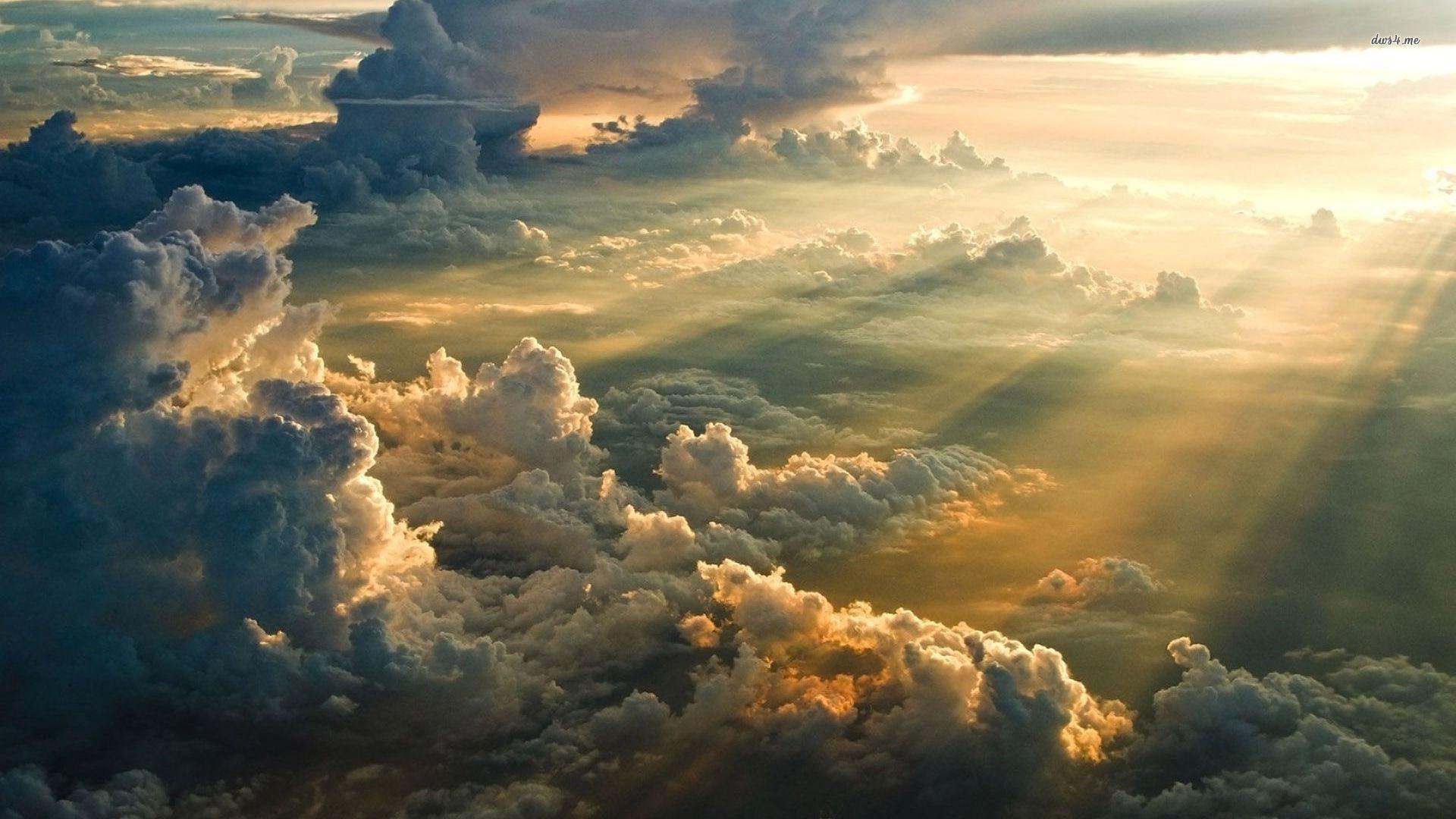 Aquarius Sunrise Sunset Above Clouds Infinite
