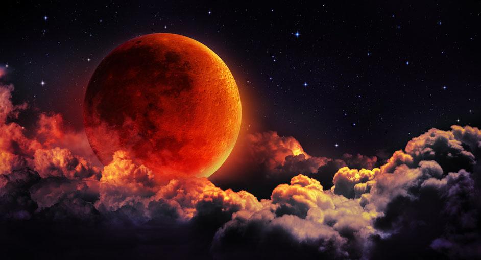 Lunar Eclipse Full Harvest Moon