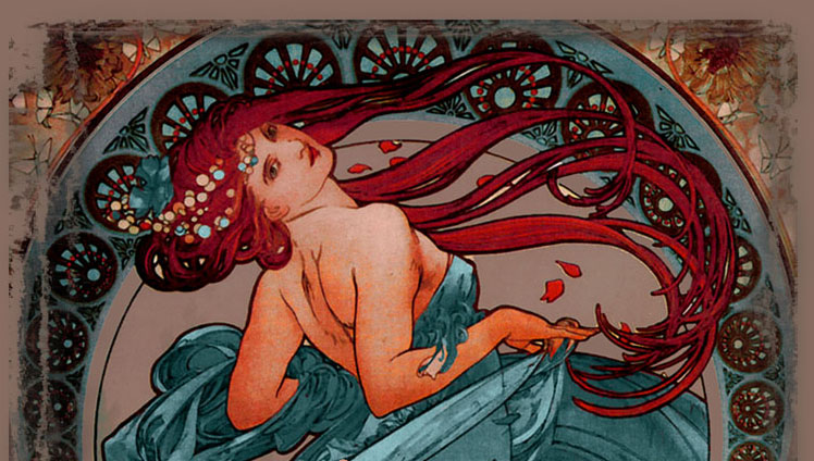 Scorpio - Enchanting Beauty, Magical Nouveau Woman