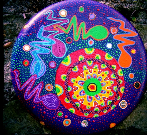 Shaman Drum, Amazonian Ayahuasca Art. We are infinite and limitless!