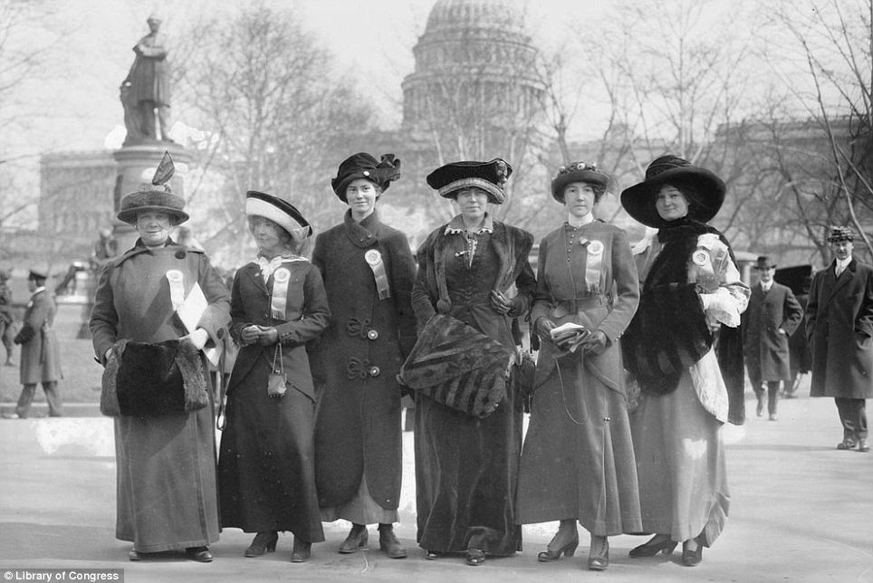 March 3, 1913 Suffragists. Women, please VOTE 2016!