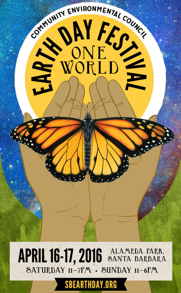 EarthDay 2016 One World Community Environmental Council Santa Barbara CA Monarch Butterfly