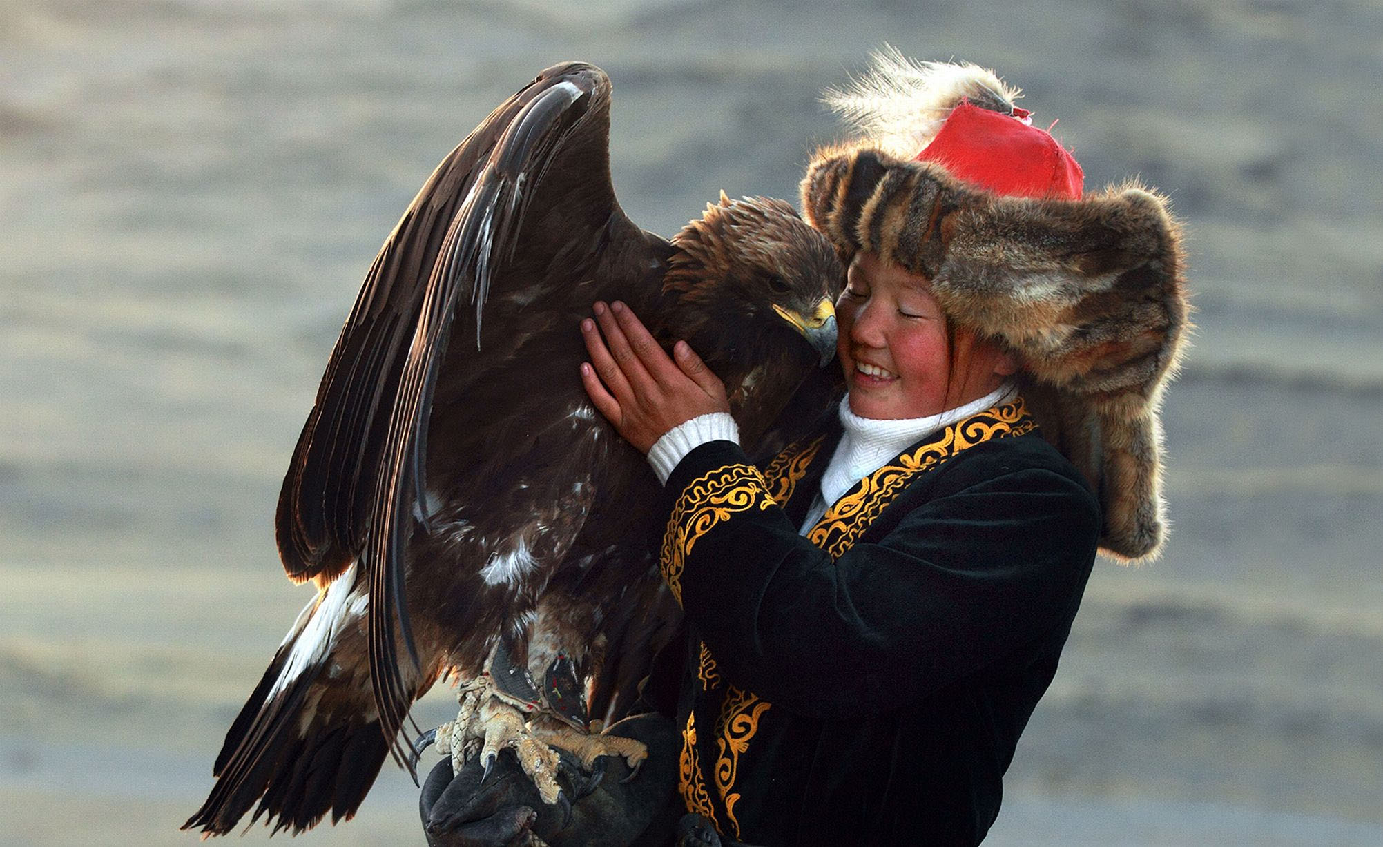 Scorpio Golden Eagle Mongolian 13 year old Ashol Pan, Photographer Svidensky