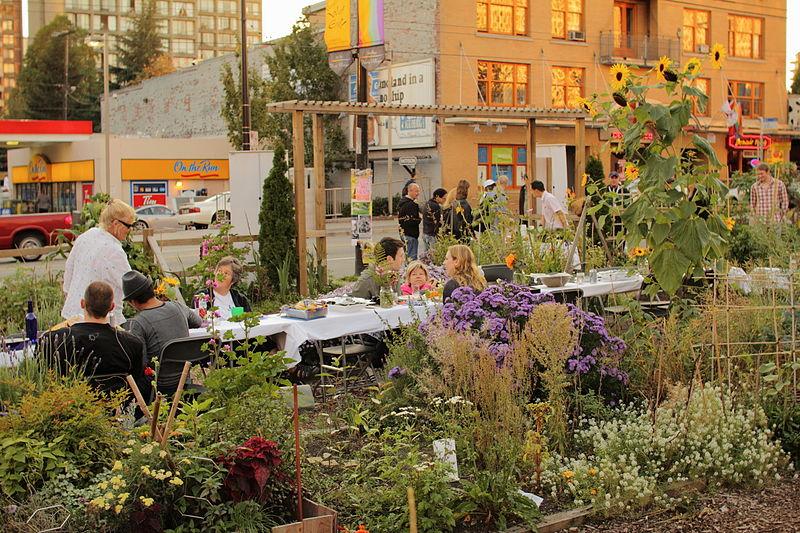 Community Garden Social at Davie Village in Vancouver's West End