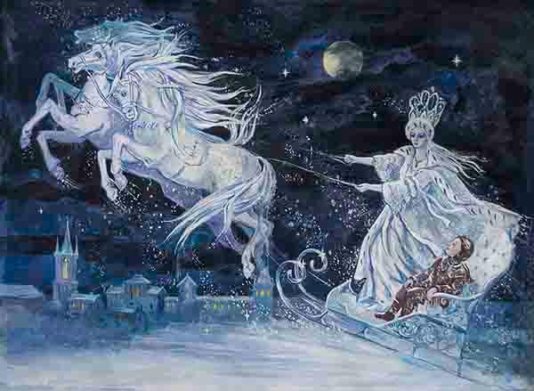 Sagittarius Snow Queen Horses Andersen