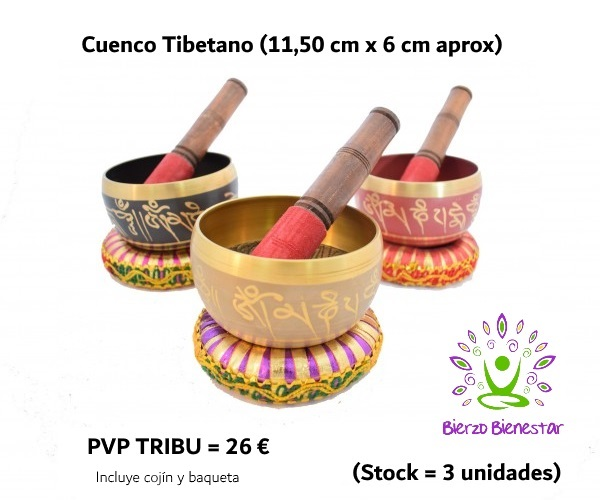Cuenco Tibetano con cojín y baqueta = 26€