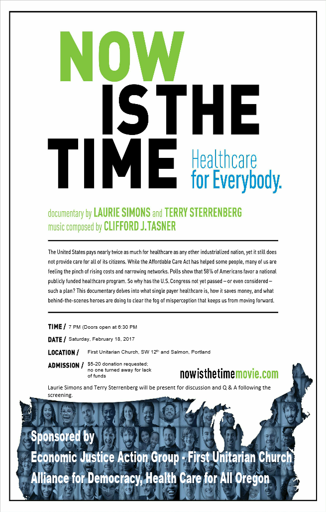 Now Is The Time, Healthcare for Everyone