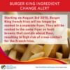 Wheat Allergy Alert: Burger King French Fries