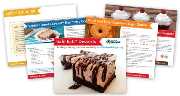 Safe Eats Desserts Recipe Cookbook