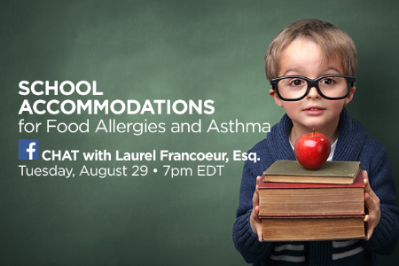School Accommodations for Food Allergies and Asthma Chat
