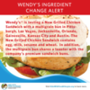Milk and Sesame Allergy Alert: Wendy's New Grilled Chicken Sandwich