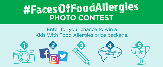 #FacesOfFoodAllergies photo contest