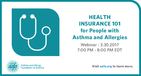 Webinar - Health Insurance 101 for people with Asthma and Allergies