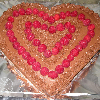 Heart-Shaped Cake With Chocolate Buttercream Frosting