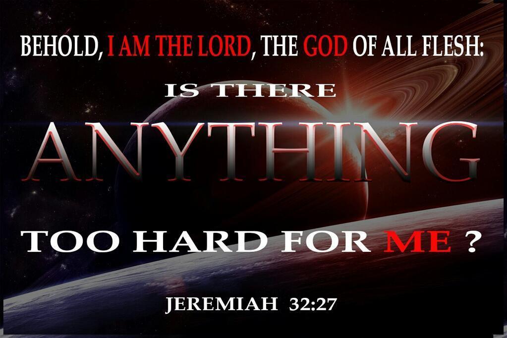 too hard for God