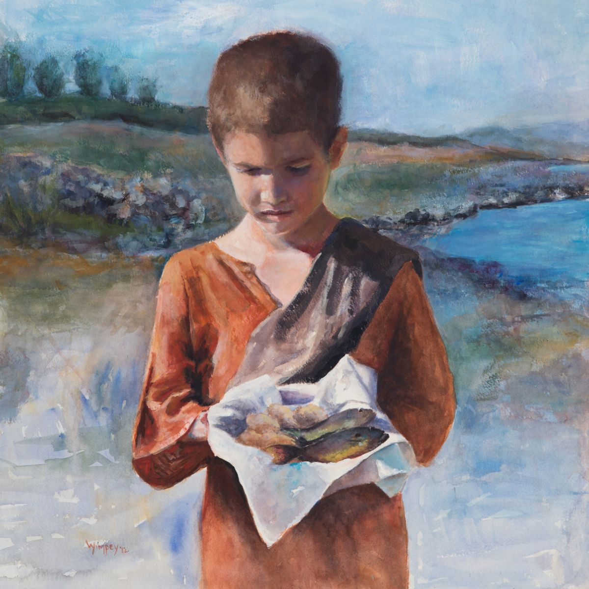 boy with loaves and fishes