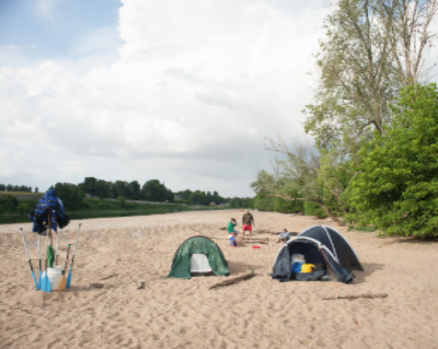 Wild Camping on the Loire river, France