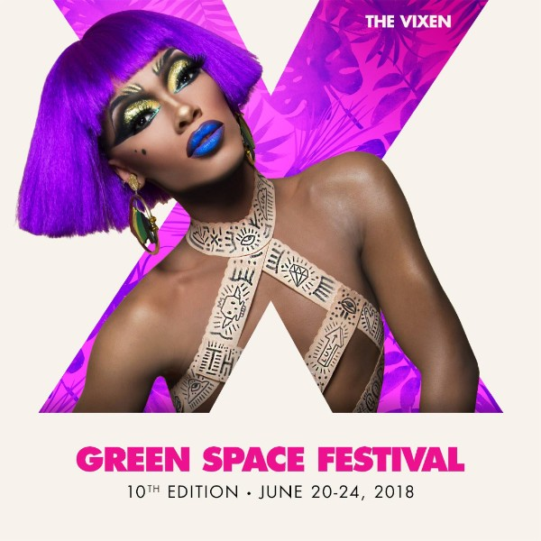 The Vixen with text Green Space Festival, 10th Edition - June 20-24, 2018