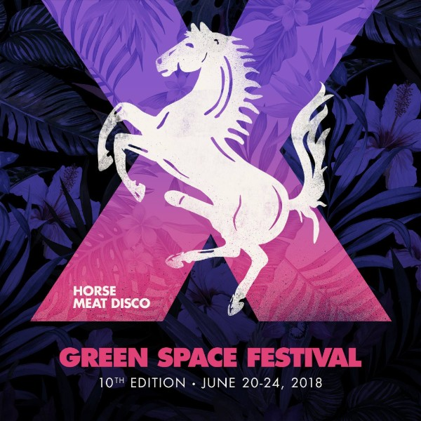Horse Meat Disco logo with text Green Space Festival, 10th Edition - June 20-24, 2018