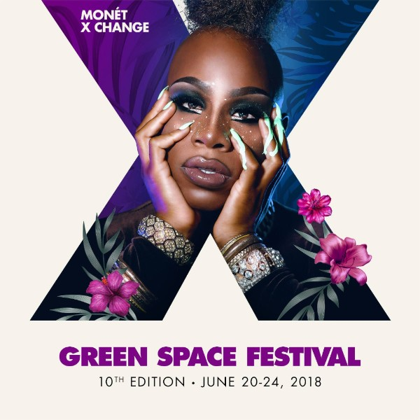 Monet X Change with text Green Space Festival, 10th Edition - June 20-24, 2018